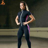 Motorista de retalhos de fazenda de braço curto, casacos esportivos femininos e casacos de ginásio conjunto de rolamento feminino de ternos esportivos conjunto de yoga elástico