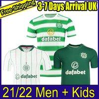 2021 2022 Celtic Ev Futbol Formaları Edouard 21 22 Uzakta 3rd Kahverengi McGregor Futbol Gömlek Griffiths Erkekler Çocuk Üniformaları