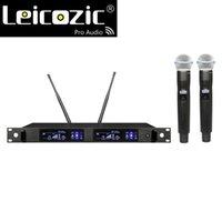 LEICOZIC QLX-24D نظام ميكروفون مزدوج ميكروفون يده الدلاجة المستعملة Microfono QLXD صالح للأصلية BETA87 ميكروفونات