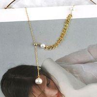 سلاسل Yongcheng S925 كل الجسم النقي الفضة نمط اليابانية والكورية شخصية بسيطة متعددة الاستخدامات الترقوة سلسلة maisui اللؤلؤ neckl