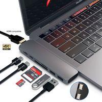 الموافق USB C Hub Thunderbolt 3 قفص الاتهام مع HDMI متوافق RJ45 1000M محول TF SD Reader PD 3.0 ل MacBook Pro / Air M1 Type-C