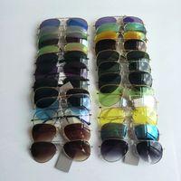 Piloto Clássico Mulheres Óculos De Sol Quadro De Metal Resina Homens Sun Óculos Proteção Eye Proteção UV400 Marca Eyewear Atacado 58mm 24 Cores