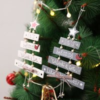 Wooden Wind Chime Letter Plate Tree Pendant Xmas Decorations Star Bells Hanging Door Family Christmas Ornaments
