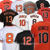 Personalizado 2021 Murray 8 Cal Ripken Jr. Jersey 13 Manny Machado 12 Roberto Alomar Trey Mancini Davis Ruiz Jersey de béisbol 10 Adam Jones Jerseys
