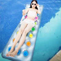 Life Vest & Buoy 18 Hole For Adults Beach Thickened Swimming Pool PVC Sea Mattress Hammock Summer Water Sports Party Inflatable Floating Lou