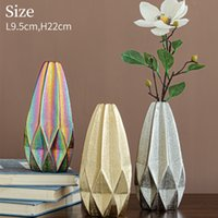Ceramic electroplating geometric origami vase can be used for family, party decoration, friends gifts