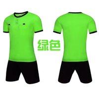 Men Adult soccer jersey short sleeve soccer shirts football uniforms shirt+shorts --referee-7