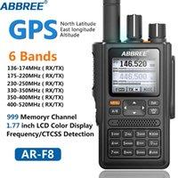 Abbree AR-F8 GPS Walkie Talkie High Power 136-520MHz Frequenz CTCSS DNS Detektion Riesige LED-Anzeige 10km langer Bereich