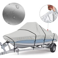 Pool & Accessories Adjustable Reflective 5 Sizes Boat Cover 300D Oxford Fabric Outdoor Protection Waterproof Anti-Smashing Tear Proof Fit Ba