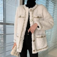 Women's Fur & Faux Real Full Lamb Wool Coat For Women Double-Faced Suede Lining Overcoat Short 2021 Autumn And Winter
