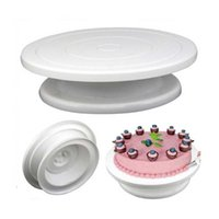 عموم أداة الخبز البلاستيك كعكة لوحة الدوار الدورية المضادة للانزلاق جولة موقف تزيين الروتاري طاولة المطبخ أدوات المعجنات