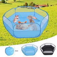 Cat Carriers,Crates & Houses Pet Playpen Portable Open Small Animal Tent Game Fence For Hamsters Guinea Pigs Indoor Outdoor Foldable