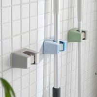Storage Holders Bathroom mop free punching toilet strong wall-mounted hook clip hanger card holder blue rack HWA5618