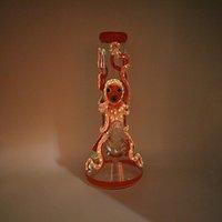 13 '' 3D Polopus dipinto dipinto di vita-lipo narghilè del becher luminoso Bongs 18mm Giunto femminile 18mm