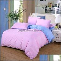 Bedding Supplies Textiles & Gardenbedding Sets Family Kids Bed Linens + Blue Set Duvet Er+Bed Sheet+Pillowcase Home Textile No Quilt Drop De