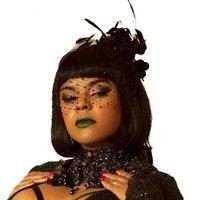 Siyah Yüz Peçe Gelin Kristal Için Boncuklu Tiara Şapkalar Birdcage Net Maske Novia Saç Aksesuarları Veils Düğün Parti Fascinator Klips Bar
