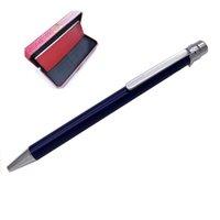 Giftpen Luxury Designer Pens Ballpoint Pen Concave Lattice Forma Silver Forma Cap Y Clip Con Sello Top Regalo