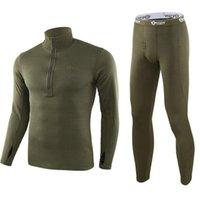 체육관 의류 겨울 남성 양털 전술 속옷 긴 존스 유니폼 군대 군대 Polartec 압축 가벼운