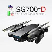 Goolrc SG700-D FPV Mini Drone con la cámara 4K HD Posicionamiento de flujo óptico de gran angular HD Sígueme la altitud HOLD RC Quadcopter Drones