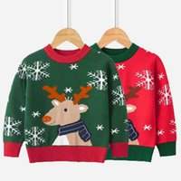 Pullover Autumn Baby Boys Girl Sweaters Kids Christmas Sweater Knit Warm Children High Quality Tops Winter Knitwear Clothes 3-8Y