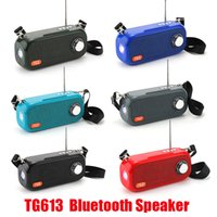 TG613 سماعات بلوتوث لاسلكية مكبرات الصوت المحمولة مكبرات الصوت المحمولة يدوي دعوة الملف الشخصي ستيريو باس 1200 مللي أمبير بطارية دعم TF USB بطاقة aux