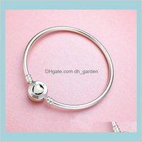 Schmuck Drop Lieferung 2021 Sterling Weißes Herz Email Original Box Für Pandora Charms Sier Armband Frauen Bangle Womens Armbänder X32gy