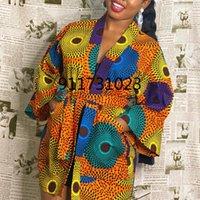 Ethnic Clothing African Print Dresses For Women Dashiki Geometric Belt Femme Dress Clothes Plus Size Retro Africa Christmas Robe