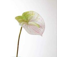 الزهور الاصطناعية باقة بونساي الزفاف الديكور ترتيب الجدول غرفة المعيشة ديكور فلوريس الاصطناعي 1 قطعة وهمية أنثوريوم