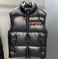 Wysokiej jakości kamizelki męskie Kamizelka w dół kamizelka z litery odznaka zima kurtka stylista mężczyźni kobiety zagęścić płaszcz zewnętrzny Ciepła streetwear M-2XL