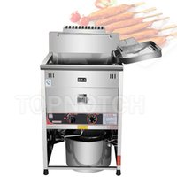 Professional Stainless Steel Potato Chips Fryer Continuous Electric Deep Frying Machine