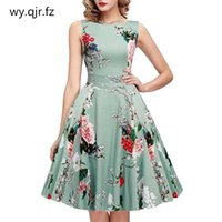 Bridesmaid Dress ALY-J115#Bridesmaid Short Floral Print Wedding Party Prom Dresses O-Neck Bow Wholesale Girls Graduation Gown Green
