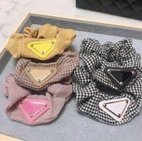 8 Estilo Mujeres Diseñador Letra Cabello Cabello Band Bowknot Elástico Velvet Band Adult PonyTail Holder Fashion Accessories Pelo Lazos