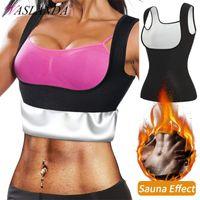 Women's Shapers Women Sauna Shaper Waist Trainer Vest Slimming Body Shapewear Compression Shirt Sweat Suit Weight Loss Workout Tank Tops Cor