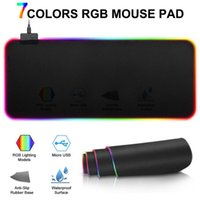 Mouse Pads & Wrist Rests RGB Large Gaming Pad Non-slip Mousepad Rubber Desk Mat Computer Keyboard Laptop Notebook With Backlight