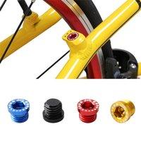 Bike Brakes 4pcs Mountain Brake Screw Nut V M10 Ultra-light Installation Head Cap Bolts Nuts Turn Buckle Tools Bicycle Brak