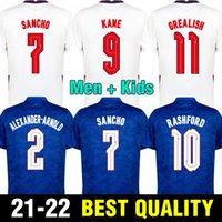 잉글랜드 축구 유니폼 2021 Kane Sterling Rashford Sancho Henderson Barkley Maguire 20 21 National Football Shirts 남성 + 키즈 키트 세트 유니폼