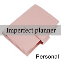 Limited Imperfect Personal Size Binder Rings Notebook Agenda Organizer Cowhide Diary Journal Sketchbook Planner With Big Pocket Notepads