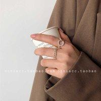 반지 한국 이스트 게이트 다이아몬드 체인 중공 여성 검지 손가락 패션 개성