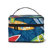 المرأة السفر تنظيم الجمال التجميل المكياج تخزين سيدة غسيل أكياس الأمواج ورقة الاستوائية ورقة خلفية حقيبة الحقيبة الحقيبة