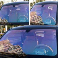 1.52x5m Araba Bukalemun Pencere Filmi 75% VLT Dekoratif Güneş Renk Tonu Isı Kontrolü Gizlilik Koruma Aksesuarları Yaz Kullanımı Güneşlik