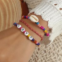 Charm Bracelets 3pcs Set Beads Bracelet For Women Couple Bohemian Style Colorful Handmade Shell DIY Party Jewelry Gift