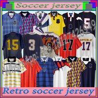 1991 اسكتلندا الرجعية لكرة القدم جيرسي كأس العالم معدات المنزل أطقم منزلية 96 98 الكلاسيكية خمر اسكتلندا الرجعية كرة القدم قميص قمم هنري لامبرت