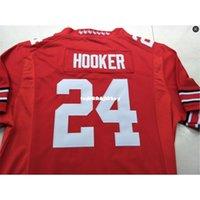 Дешевые мужчины # 24 Malik Hooker Ohio State Buckeyes College Jersey белый красный черный персонализированные XS-6XL или пользовательское любое имя или номер Джерси NCAA