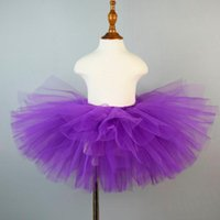 Skirts Solid Purple Fluffy Tutu Skirt For Girls Tulle Classic Tutus Baby Birthday Party Kids Halloween Holiday Costume