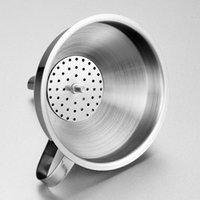 Кухонные инструменты Функциональный из нержавеющей стали Масляный медовый воронку с отъемным фильтром для сетки для парфюмерных жидкостных водных водных инструментов GGA5135