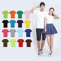 T-shirt da donna 2021 estate di alta qualità 18 colori S-3XL T Shirt T-shirt da uomo in cotone Elastico Basic Tshirt Donna Casual Top Manica corta