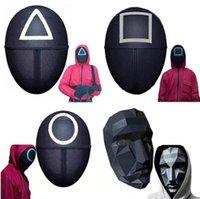 Squid Game Mask 2021 Cosplay Mascarada Accesorios Accesorios Props Black Face Masks Mascherine Halloween Cosplay Mondmasker