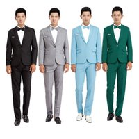 Wholesale-New 2016 Long-Sleeved Men's Suits Dress Hosted Theatrical Tuxedos For Men Wedding Prom Performance cloth suit jacket and pants