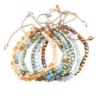أزياء ساطع كريستال الخرز الألوان الزجاج للمجوهرات صنع diy سوار vsco الفتيات الملحقات البوهيمي مطرز، فروع