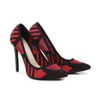 Dress Shoes Odinokov 11cm Tacchi sottili nera Stilotto a spillo puntata Donne Pompe Donna Matrimonio Sexy Party Plus Size 14